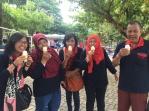 happy with ice cream